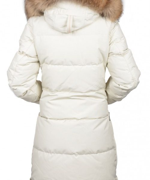 parajumpers long bear coat; parajumpers long bear woman 770 chalk 014